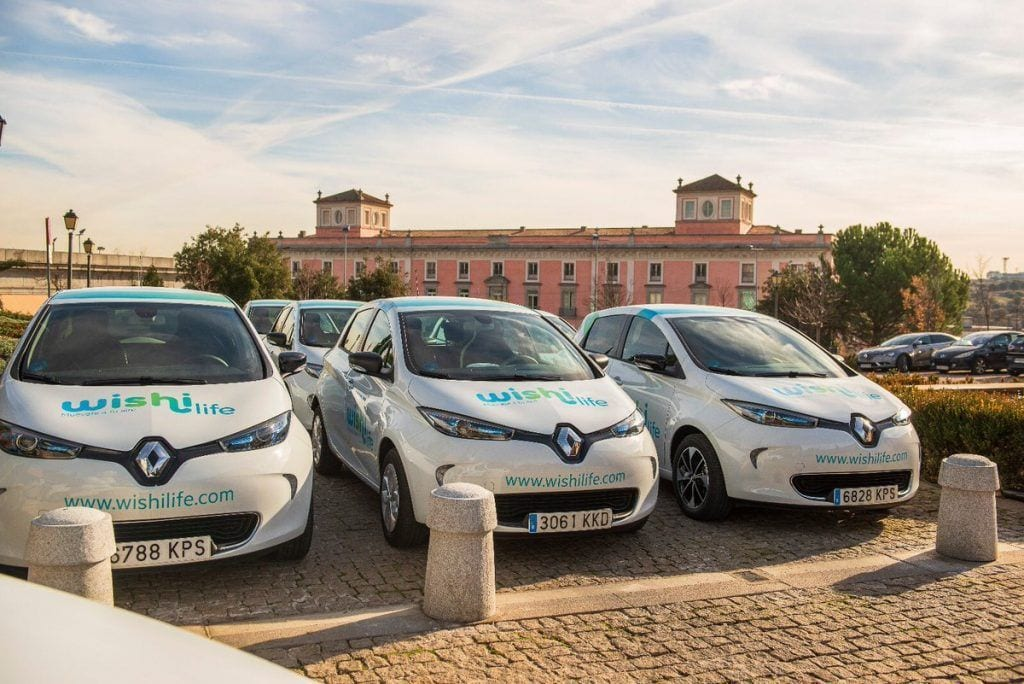 carsharing de WishiLife en Madrid