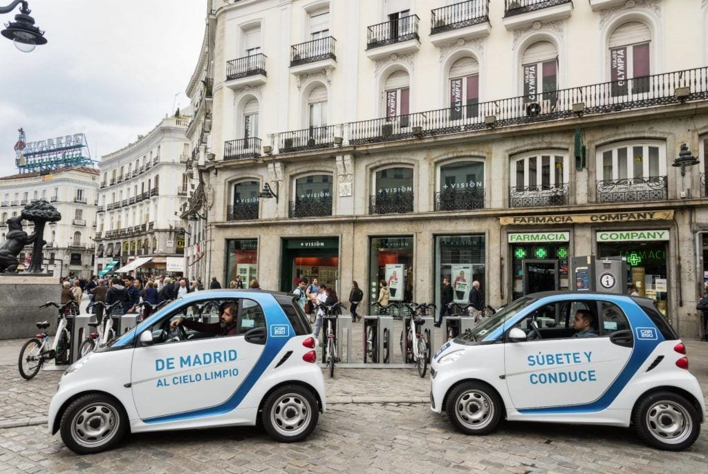 coches compartidos en madrid